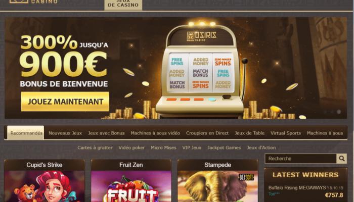Avis Osiris casino : notre analyse détaillée