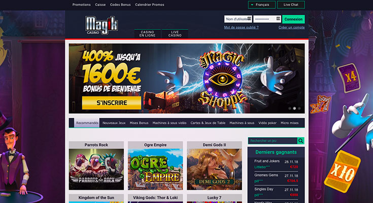 bonus magik casino