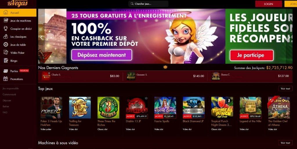 BeVegas Casino Avis : 675% en guise de bonus de bienvenue !