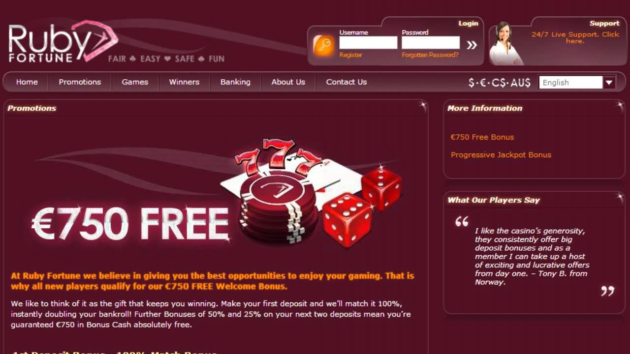 Ruby Fortune avis : un casino québécois passé au crible !